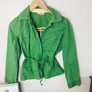 LOFT Pockets Green Coat